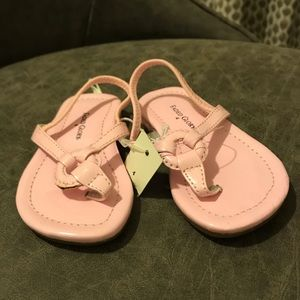 Faded Glory Baby/Toddler Faux Patent Pink Sandals